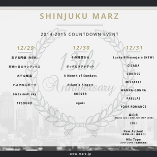 Shinjuku MARZ COUNTDOWN day.1