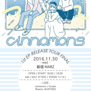 cinnamons pre. 1st EP Release Tour Final